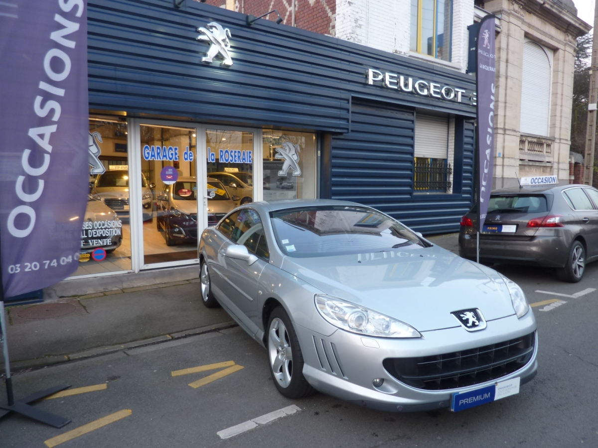 Occasion peugeot 407 coup griffe 2 7 v6 hdi 204 ch for Location voiture garage peugeot
