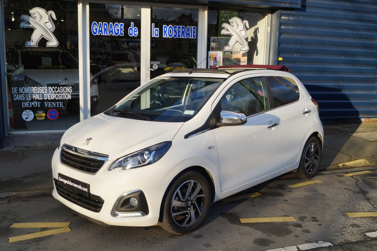 Occasion peugeot 108 allure top 1 2 essence 82 ch 5 p for Garage reprise voiture lille